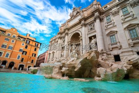 brunnen in rom italien