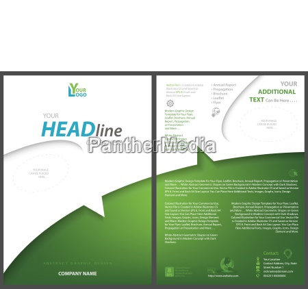 white green flyer template