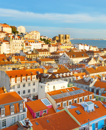 cityscape lisbon old town portugal