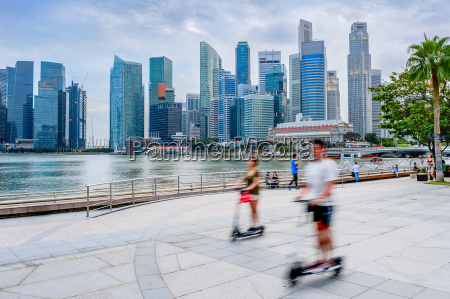 modern singapore people eco transport