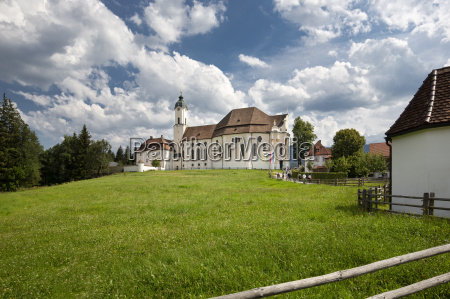 the historic wieskirche church in bavaria