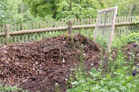 pile with ripe compost