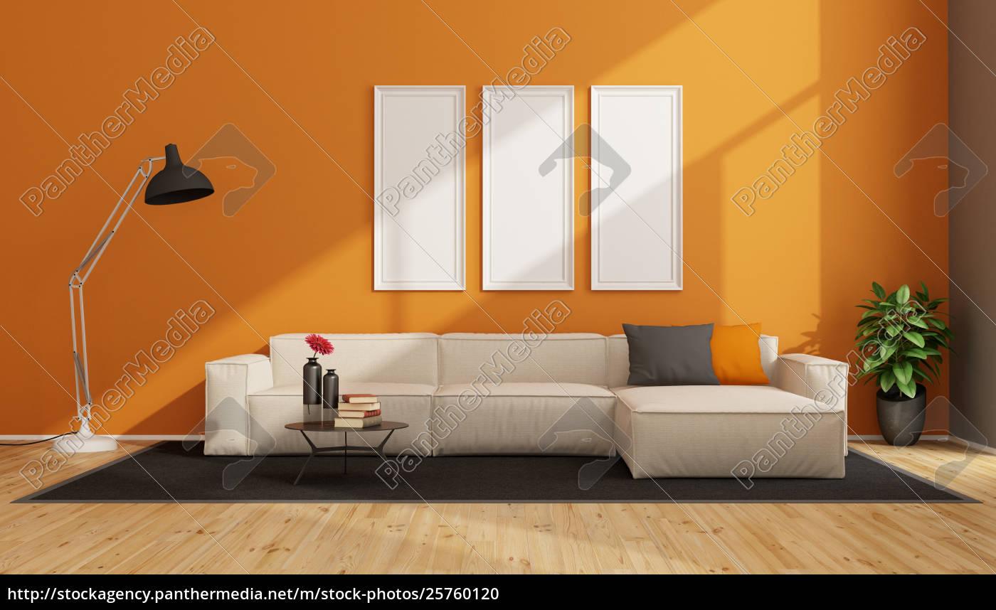 Lizenzfreies Foto 25760120 Minimalistisches Wohnzimmer Mit Weissem Sofa