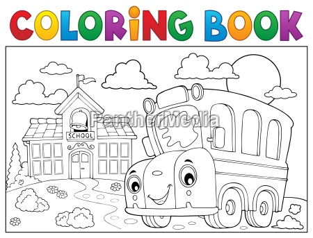 coloring buch schulbus thema 6