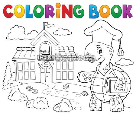 coloring book turtle teacher theme 2