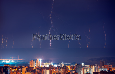 lightning in night city