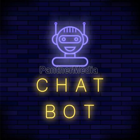 neon chat bot kuenstliche intelligenz konzept