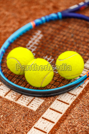 sport ball tennis toenern lehm racket