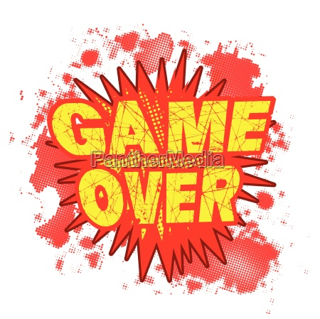game over cartoon comic explosion