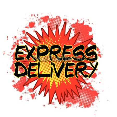 cartoon express delivery explosion