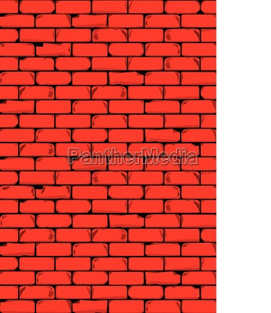 the bright red brick wall background