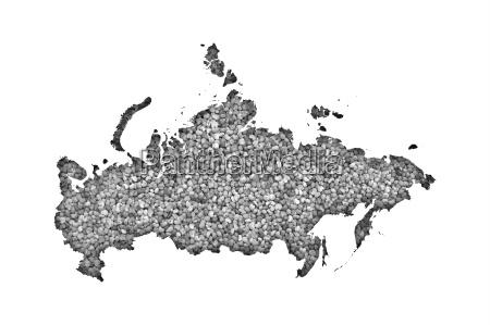 karte von russland auf mohn