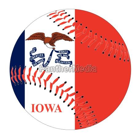 iowa flagge baseball