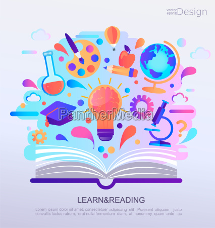 education infographic concept banner