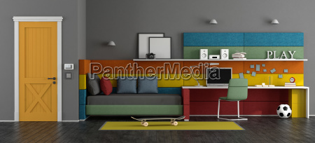 young colorful teen room