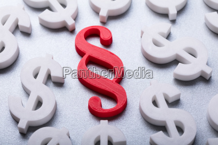 many dollar currency signs surrounding paragraph