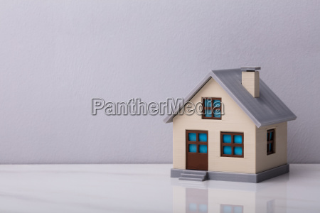 close up of a house model