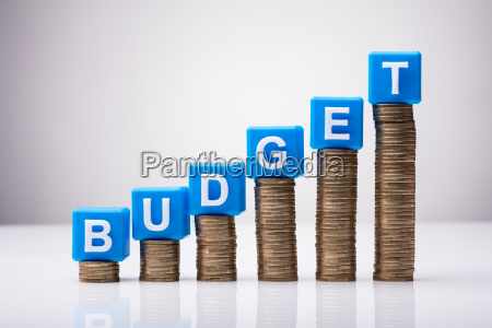 blue budget cubic blocks on increasing