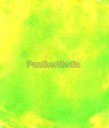 bemalte aquarell textur gruen gelb