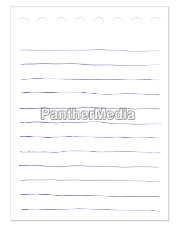 isolated lined paper