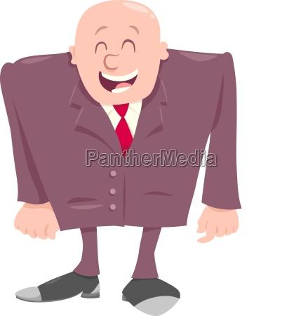 happy boss cartoon character