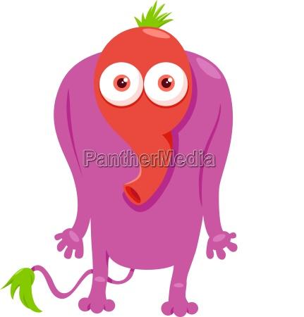 funny monster fantasy character cartoon illustration