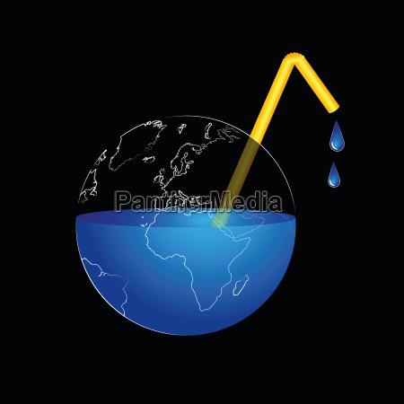 illustration OEkologie globus planet erde terra