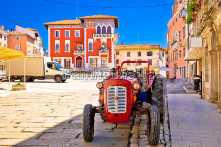 town of vodnjan colorful square and