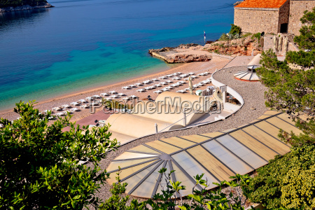 banje beach in dubrovnik view