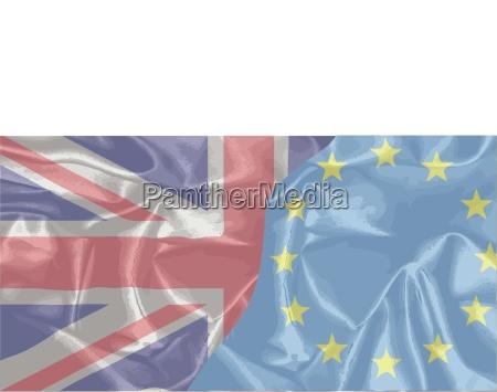 banderas de seda uk y eu