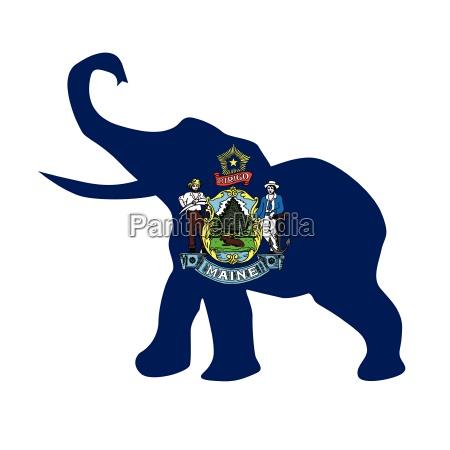maine republikanische elefantenflagge