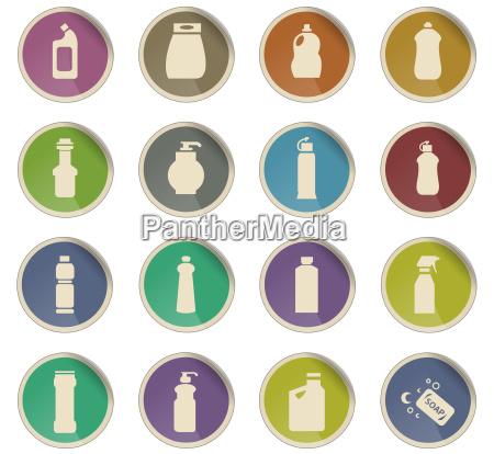 haushaltschemikalien symbol set