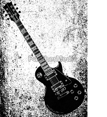 black blues guitar grunge