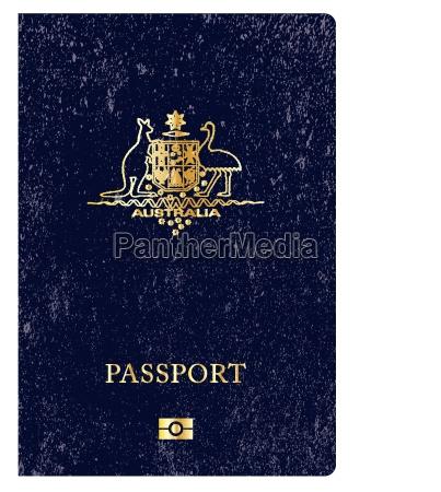 australischer worn passport