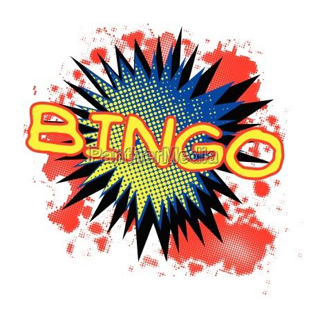 bingo comic exclamation