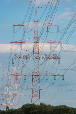 working electric poper pylon with cable