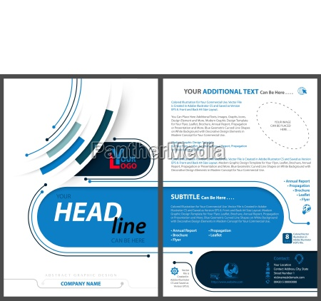 abstract flyer template in tech style