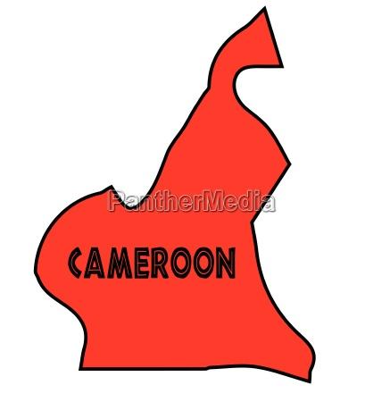 kamerun silhouette map