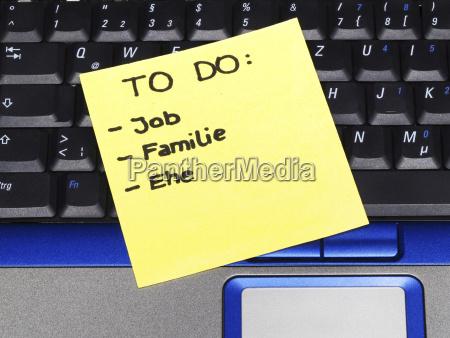 anmerkung notieren auf notizbuch anmerkung job