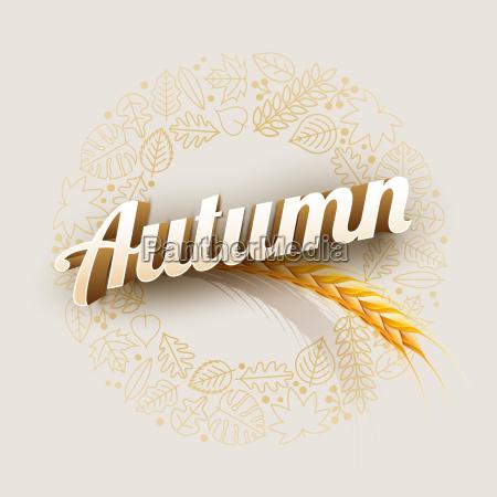 vector autumn design