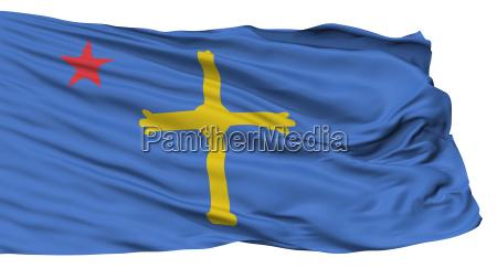 asturian nationalist flag isolated on white
