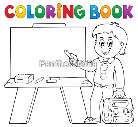 schuljunge thema 4 des farbtonbuches glueckliches