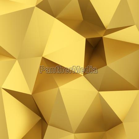 abstrakter goldener dreieckhintergrund