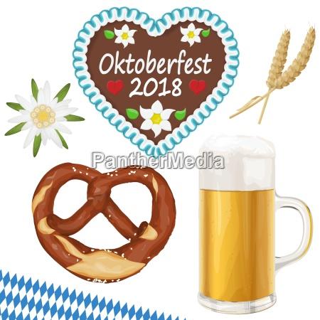 sammlung oktoberfest objekte