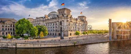 panoramablick im regierungsviertel berlin
