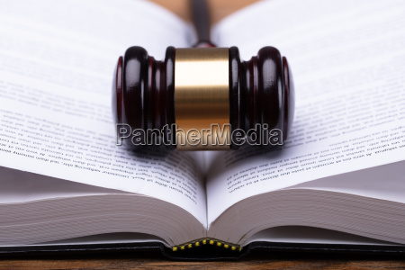 close up of gavel and law
