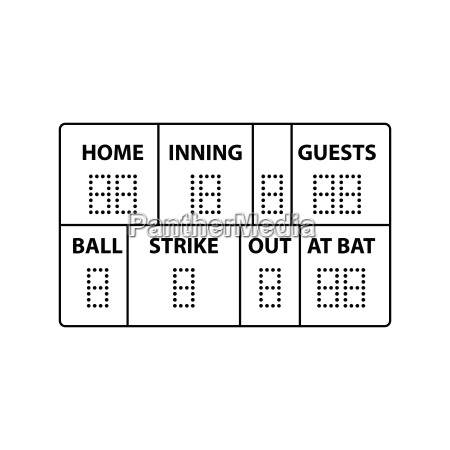 baseball anzeiger ikone