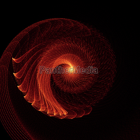 abstract orange glowing energy flow swirl