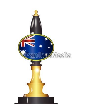 australian flag beer pump