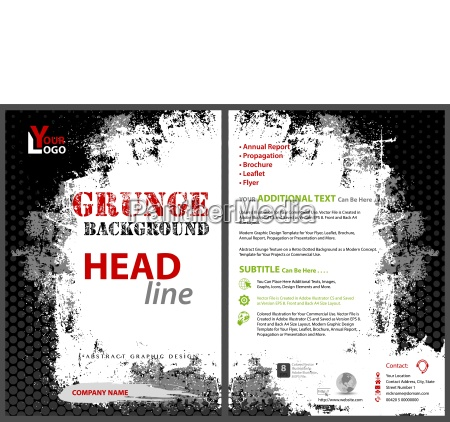 flyer template with grunge background
